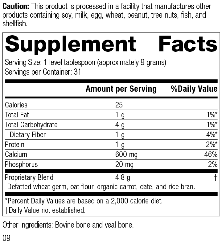 Calcifood® Powder Supplement Facts