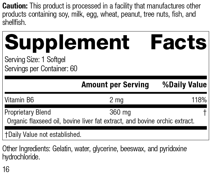 Cataplex® F Softgels Supplement Facts