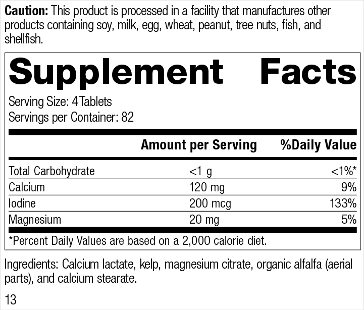 Min-Tran® Supplement Facts