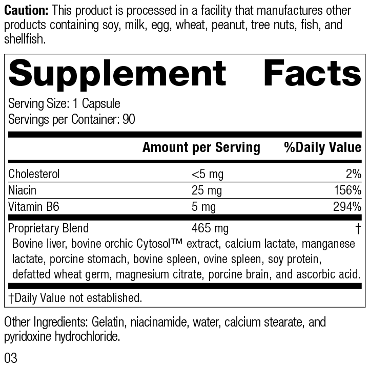 Orchex® Supplement Facts
