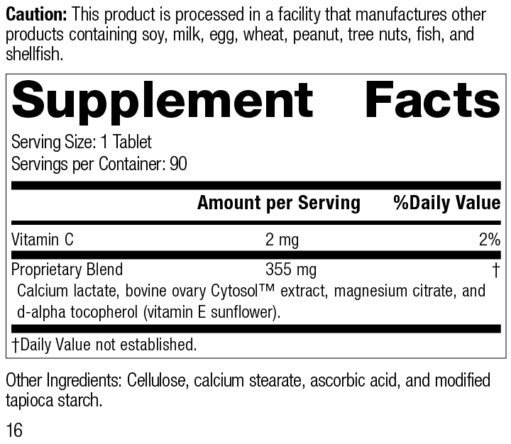 Ovex® Supplement Facts
