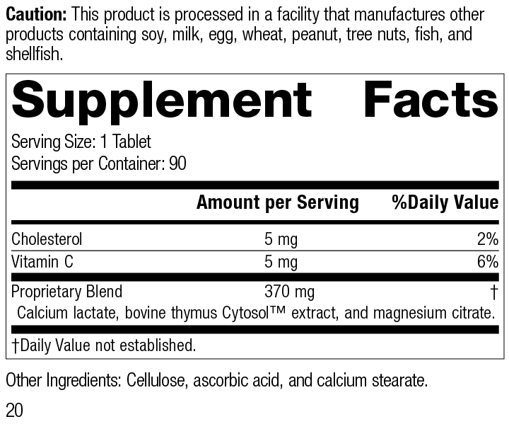 Thymex® Supplement Facts