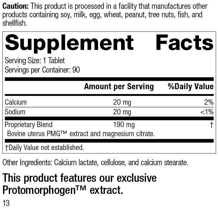 Utrophin PMG® Supplement Facts